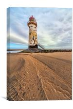 Lighthouse at Point of Ayre, Canvas Print