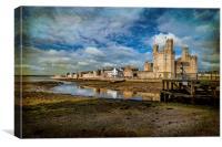 Caernarfon Castle, Canvas Print