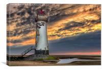 Sunset Lighthouse, Canvas Print