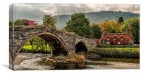 Llanrwst Cottage, Canvas Print