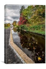 Canal Path, Canvas Print