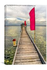 Pier Flags, Canvas Print