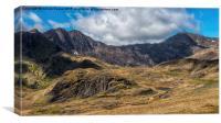 View of Snowdon, Canvas Print