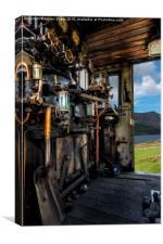 Steam Locomotive Footplate, Canvas Print