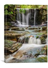 Welsh Waterfall, Canvas Print