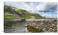Lake at Idwal, Canvas Print