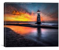 Lighthouse Rescue, Canvas Print