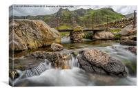 Foot Bridge Snowdonia, Canvas Print