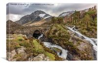Ogwen Bridge Winter, Canvas Print