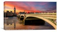 London Sunset, Canvas Print