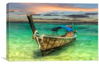 Longboat Sunset, Canvas Print