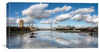 The River Thames London, Canvas Print