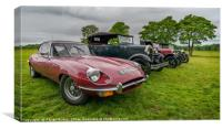 Jaguar E-Type 4.2, Canvas Print