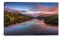 Snowdon Sunset, Canvas Print