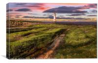 Perch Rock Lighthouse Sunset, Canvas Print