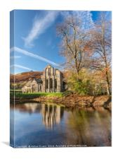 Valle Crucis Abbey , Canvas Print
