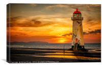 Sunset At The Lighthouse, Canvas Print