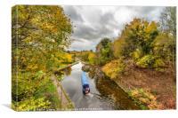 Chirk Aqueduct Autumn, Canvas Print
