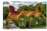 Autumn Tea House, Canvas Print