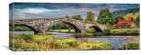 Llanrwst Bridge and Tea Room, Canvas Print
