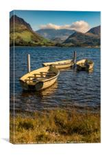 Snowdon from Llyn Nantlle, Canvas Print
