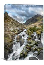 Tryfan and Ogwen River, Canvas Print