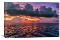 Cebu Straits Sunset, Canvas Print