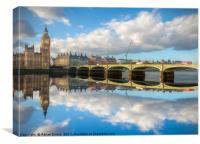 Westminster Bridge London, Canvas Print