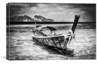 Longboat Thailand, Canvas Print