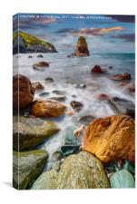 Rhoscolyn Rocky Coastline , Canvas Print