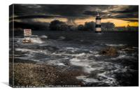 Lighthouse Storm, Canvas Print