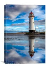 Talacre Lighthouse Reflection, Canvas Print