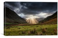 Nant Ffrancon Pass Snowdonia, Canvas Print