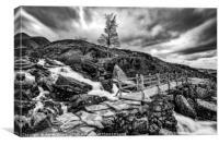 Cwm Idwal Bridge Snowdonia, Canvas Print