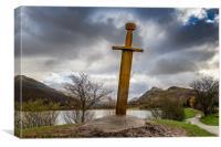 Sword of Llanberis Snowdonia, Canvas Print