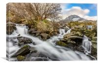 Tryfan Mountain Rapids, Canvas Print