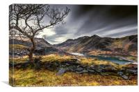 Peris Lake Snowdonia, Canvas Print