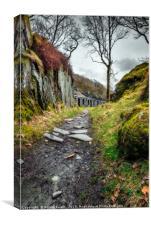 Quarry Barracks Snowdonia, Canvas Print