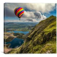 Snowdon Hot Air Balloon, Canvas Print