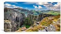 Dinorwic Slate Quarry Snowdon, Canvas Print