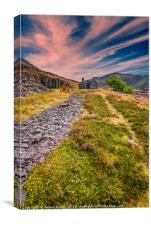 Quarry Sunset Snowdonia, Canvas Print