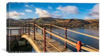 Padarn Lake Footbridge, Canvas Print
