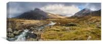 Pen Yr Ole Wen and Tryfan Mountain, Canvas Print