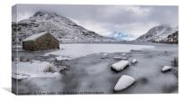 Icy Shore In Winter, Canvas Print