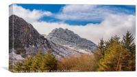Tryfan Mountains East Face, Canvas Print