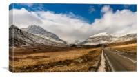 Mountain Highway Snowdonia, Canvas Print