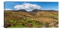 llyn Cowlyd Reservoir panorama, Canvas Print