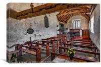 St Celynnin Church  Interior, Canvas Print