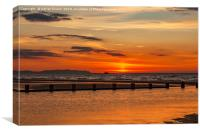 Sunset Seascape, Canvas Print