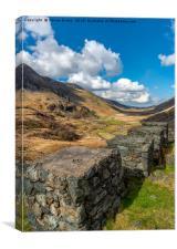 Ffrancon Pass, Snowdonia, Canvas Print